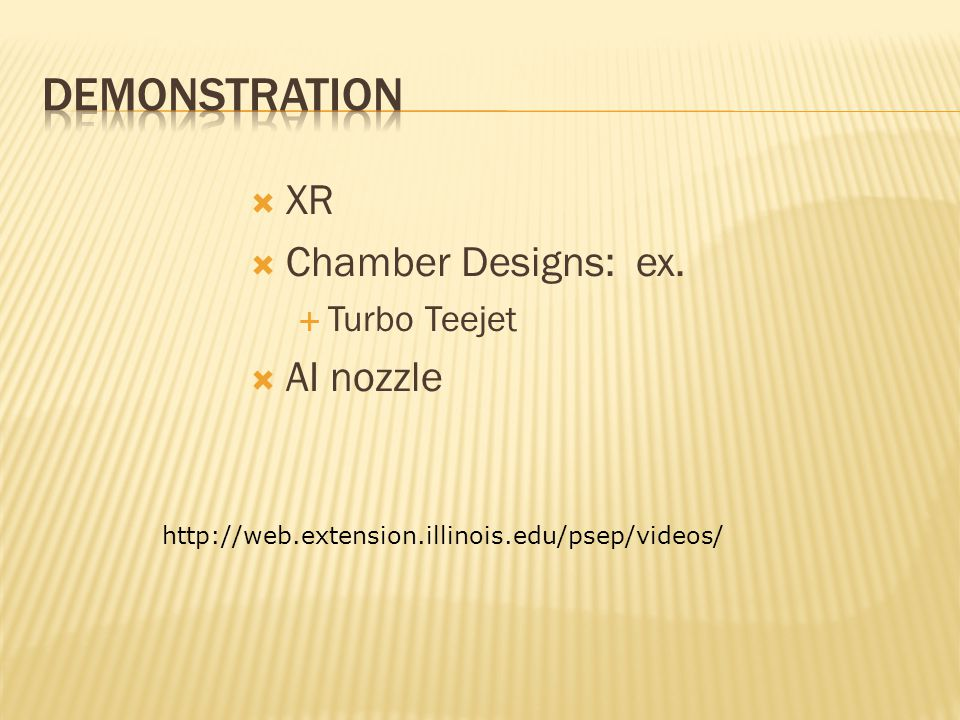  XR  Chamber Designs: ex.