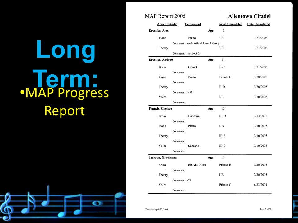 Long Term: Solo Work/Recital