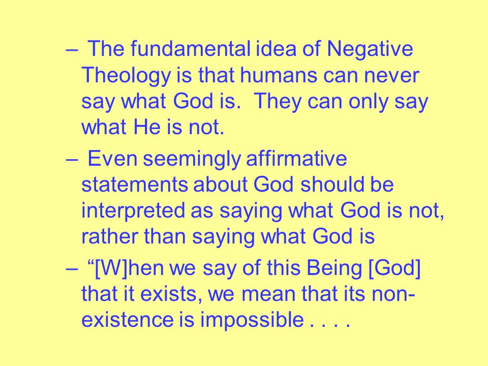 – In other words, does the vast (indeed, infinite) difference between God and human beings make it impossible for humans to say anything meaningful ab