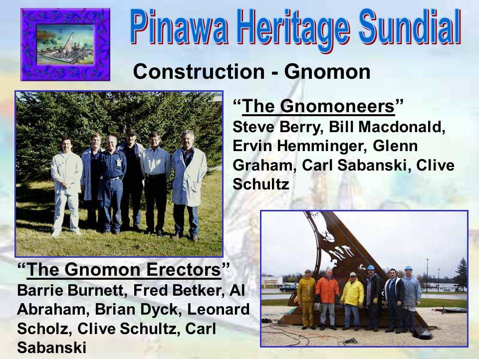 "Construction - Gnomon ""The Gnomoneers"" Steve Berry, Bill Macdonald, Ervin Hemminger, Glenn Graham, Carl Sabanski, Clive Schultz ""The Gnomon Erectors"""