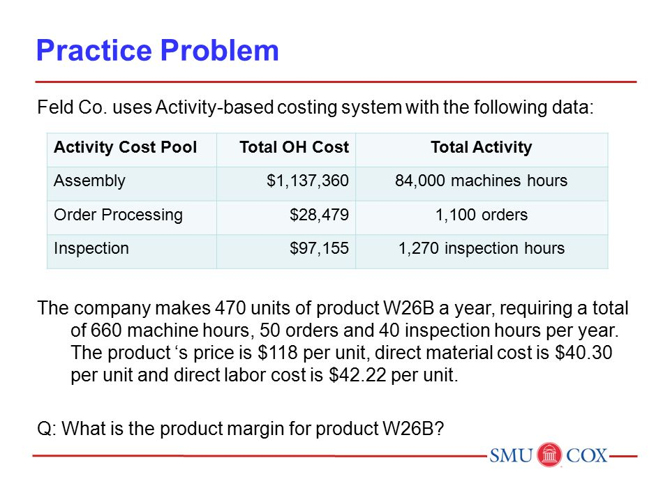 Practice Problem Feld Co.