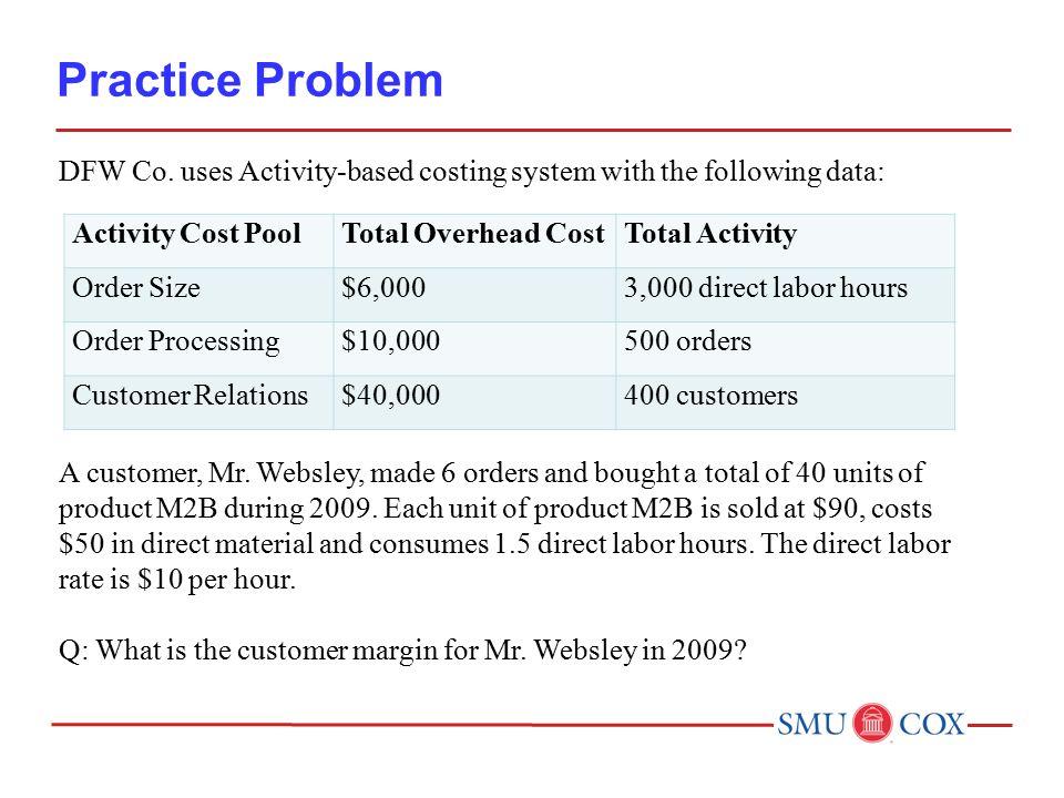 Practice Problem DFW Co.