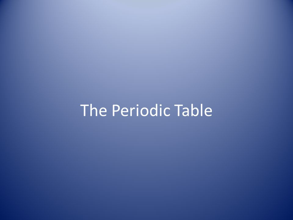 Elements in the Periodic Table Groups Periods