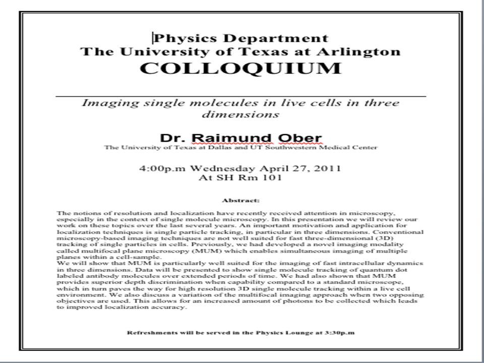 Monday, April 25, 2011PHYS 1443-001, Spring 2011 Dr.