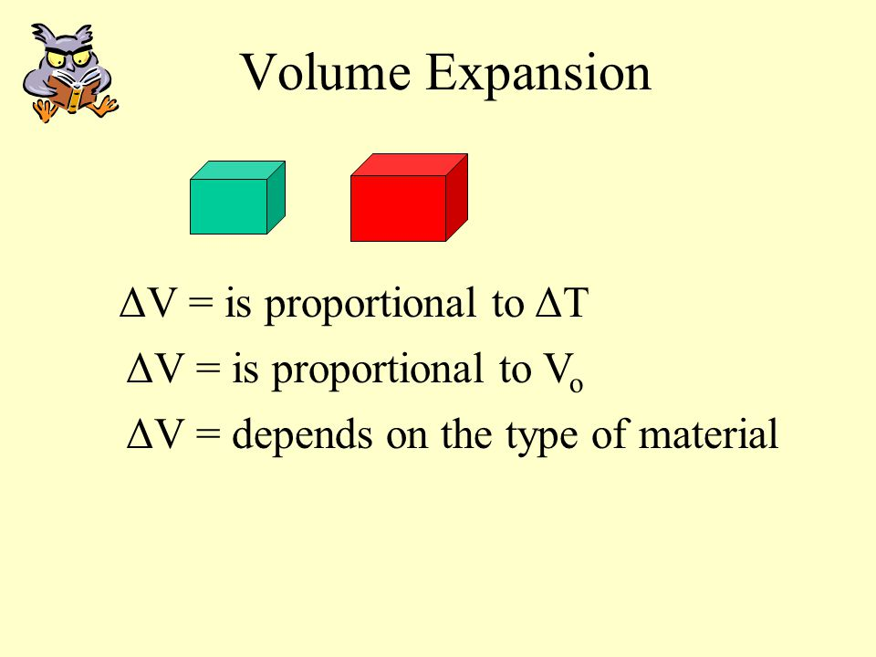 Linear Expansion LoLo ΔL ΔL = is proportional to ΔT ΔL = is proportional to L o ΔL = depends on the type of material