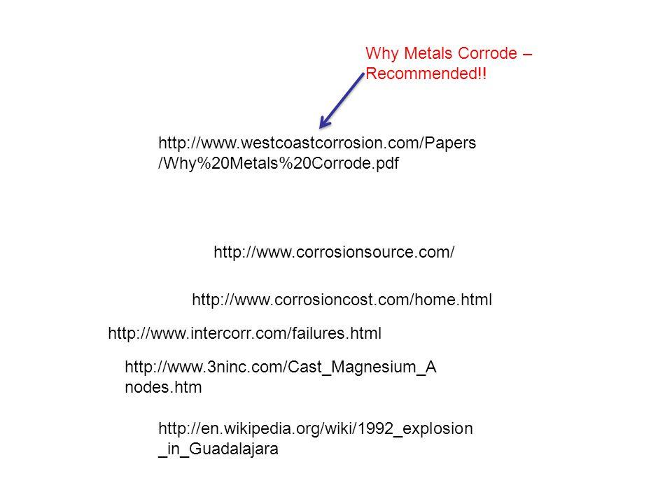 http://www.corrosionsource.com/ http://www.intercorr.com/failures.html http://www.corrosioncost.com/home.html http://www.westcoastcorrosion.com/Papers