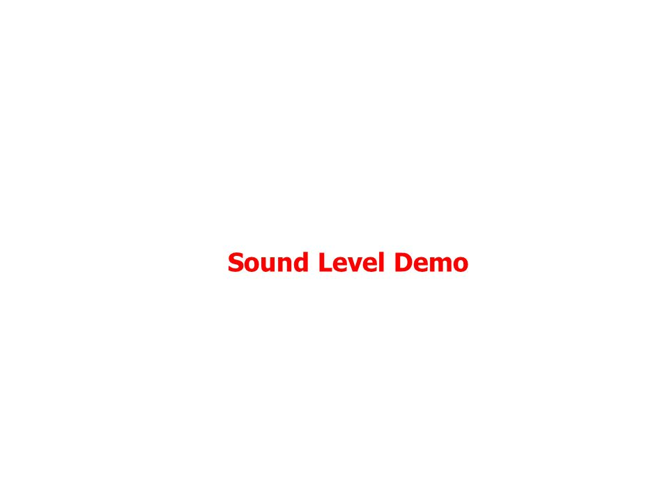 Sound Level Demo