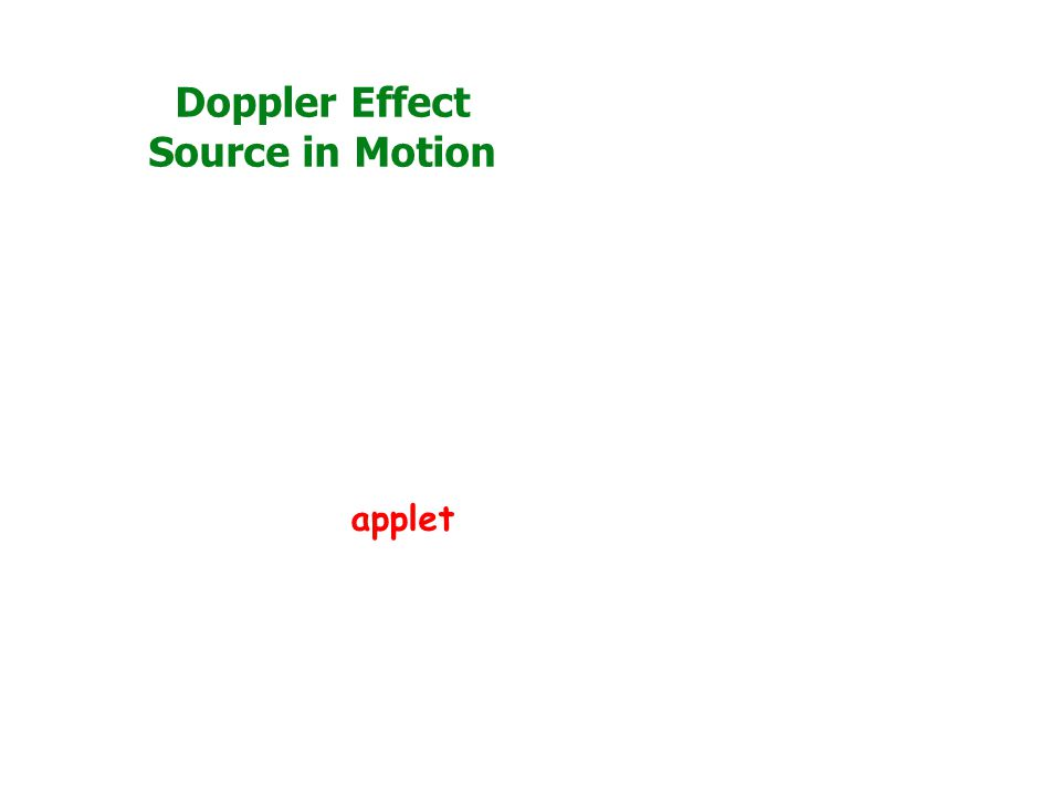 Doppler Effect Source in Motion applet