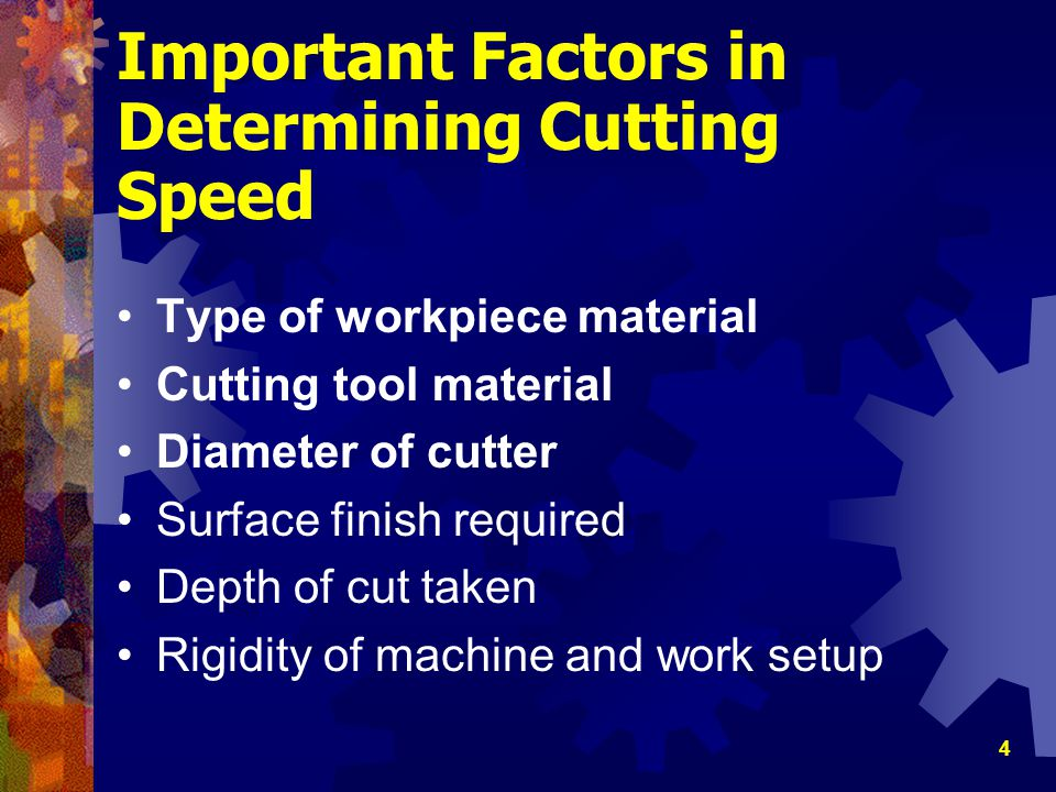 15 Feed Calculations Metric Calculations Calculate the feed in millimeters per minute for a 75-mm diameter, six-tooth helical carbide milling cutter when machining cast-iron (CS 60) First, calculate proper r/min for cutter: Feed(in/min) = N x CPT x r/min = 6 x.025 x 256 = 384 mm/min