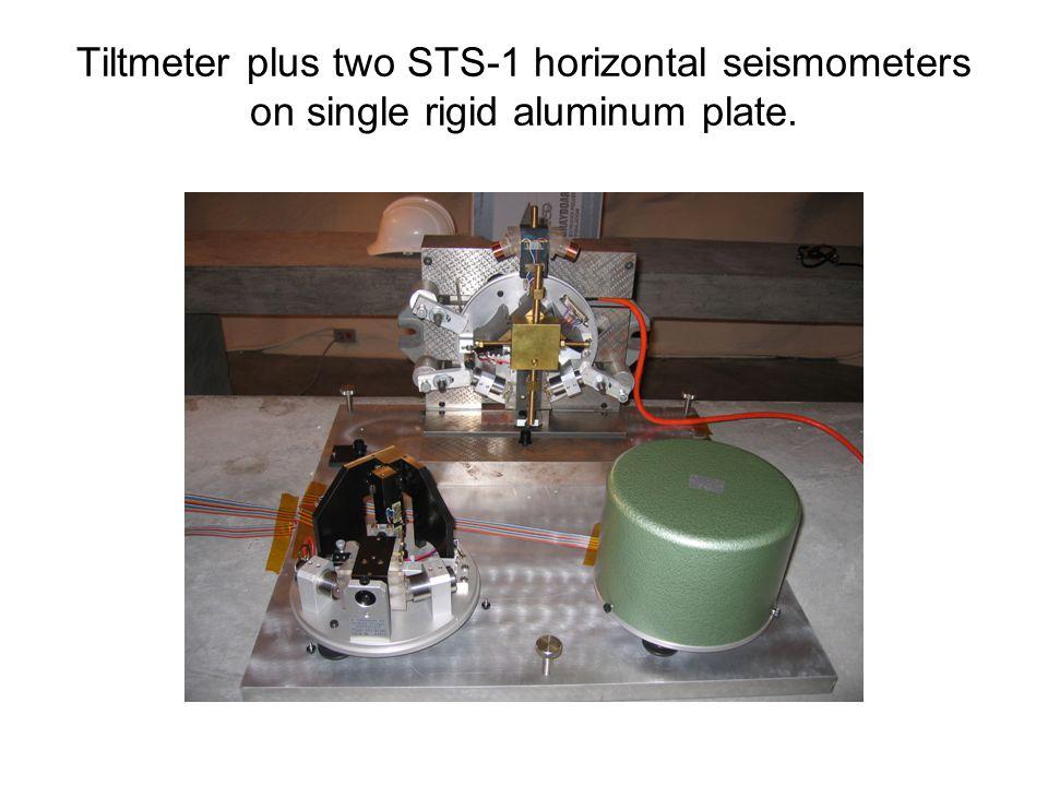 Tiltmeter plus two STS-1 horizontal seismometers on single rigid aluminum plate.