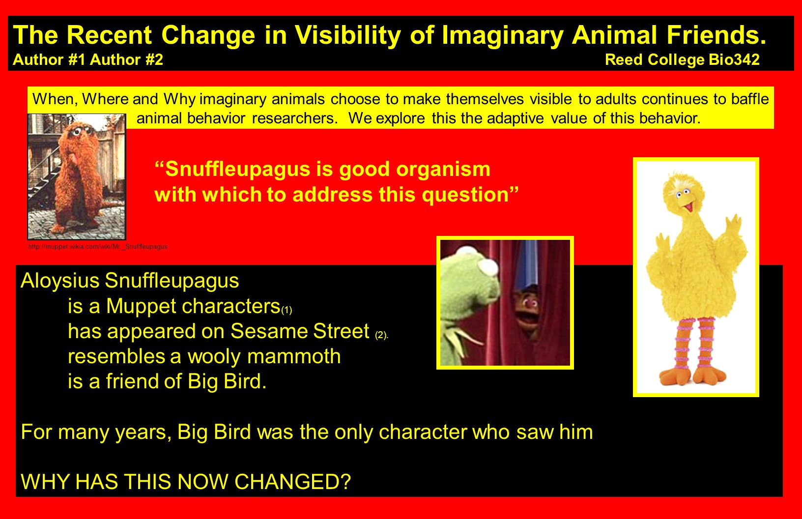The Recent Change in Visibility of Imaginary Animal Friends.