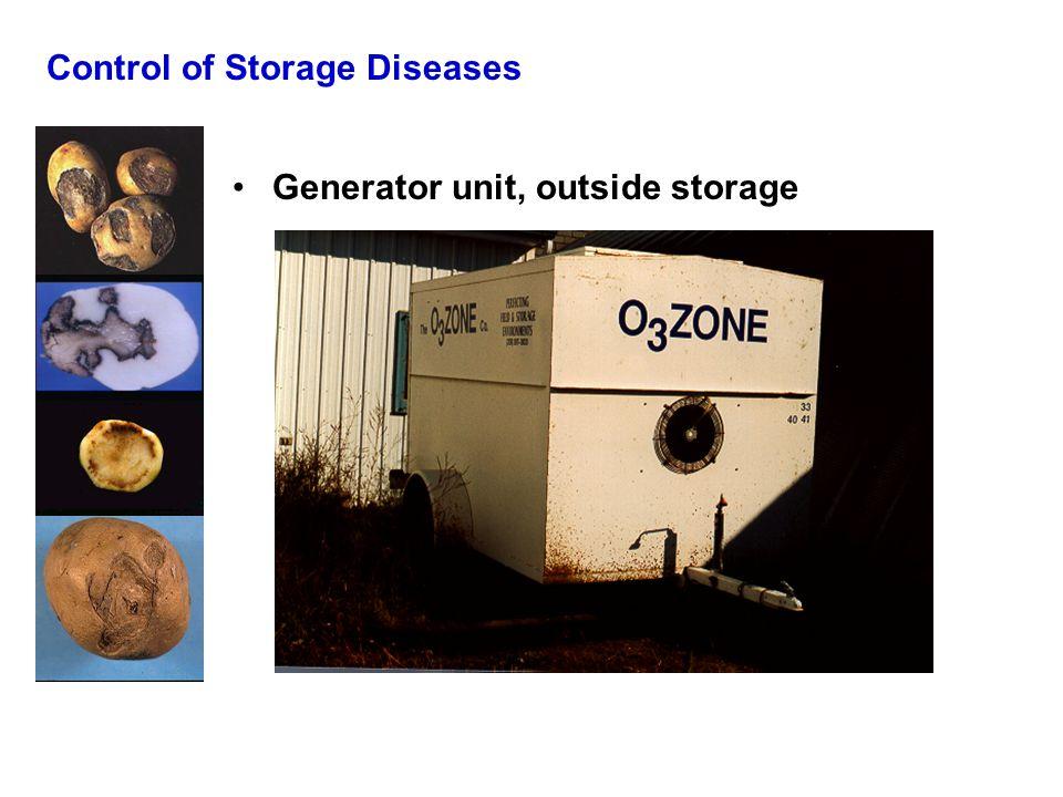 Control of Storage Diseases Generator unit, outside storage