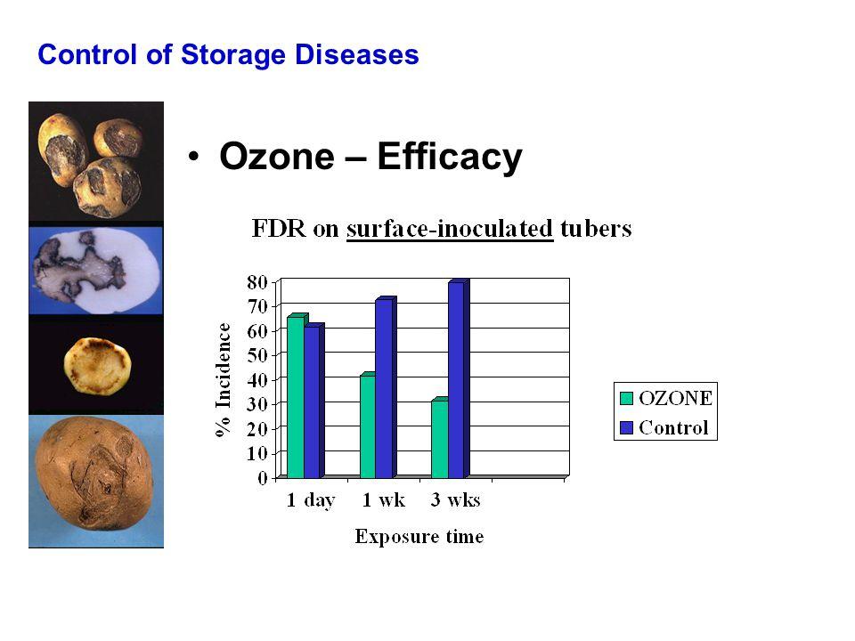 Control of Storage Diseases Ozone – Efficacy