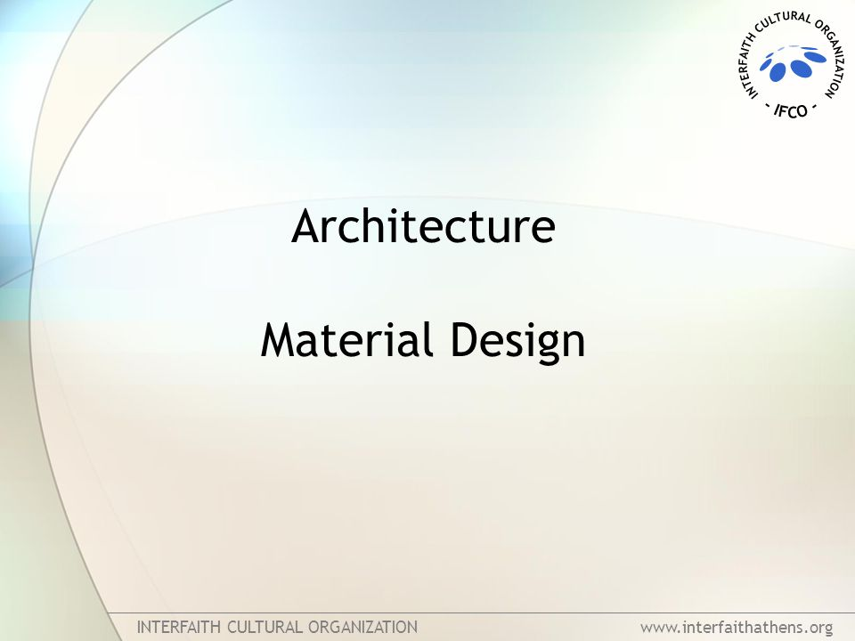 Architecture Material Design