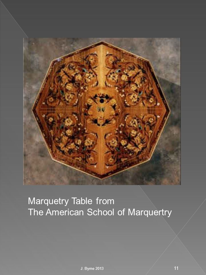 Marquetry Table from The American School of Marquertry 11 J. Byrne 2013