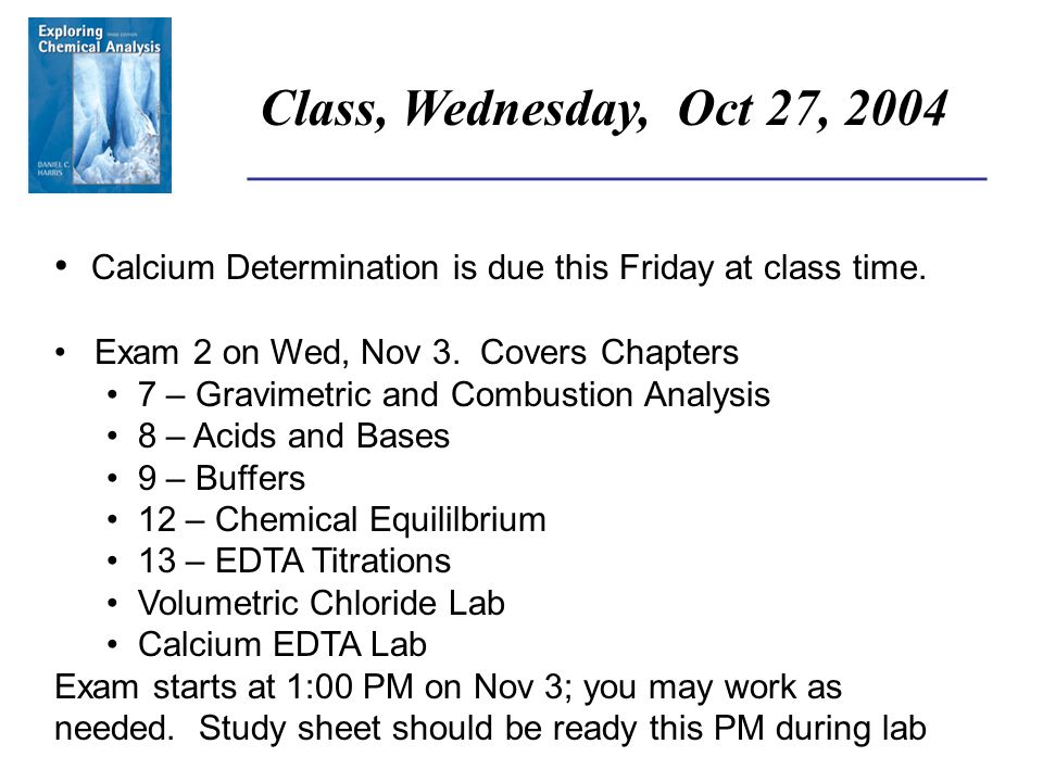 ______________________________________ Homework Assignment, Ch 16 The following Problems are assigned from chapter 16: 13, 14, 15, 17, 20 They are due at class time on Friday, Nov 5