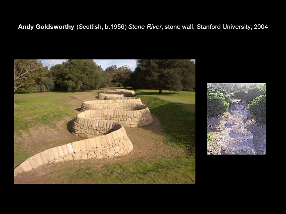 Andy Goldsworthy (Scottish, b.1956) Stone River, stone wall, Stanford University, 2004