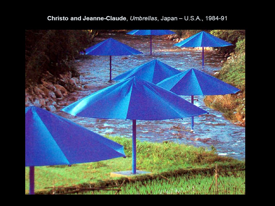 Christo and Jeanne-Claude, Umbrellas, Japan – U.S.A., 1984-91