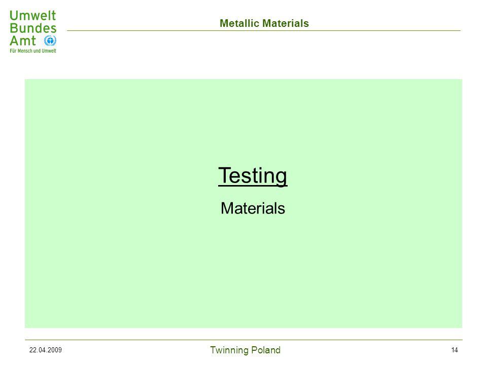Twinning Poland Metallic Materials 22.04.200914 Testing Materials