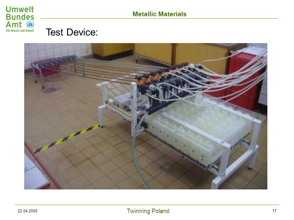 Twinning Poland Metallic Materials 22.04.200917 Test Device:
