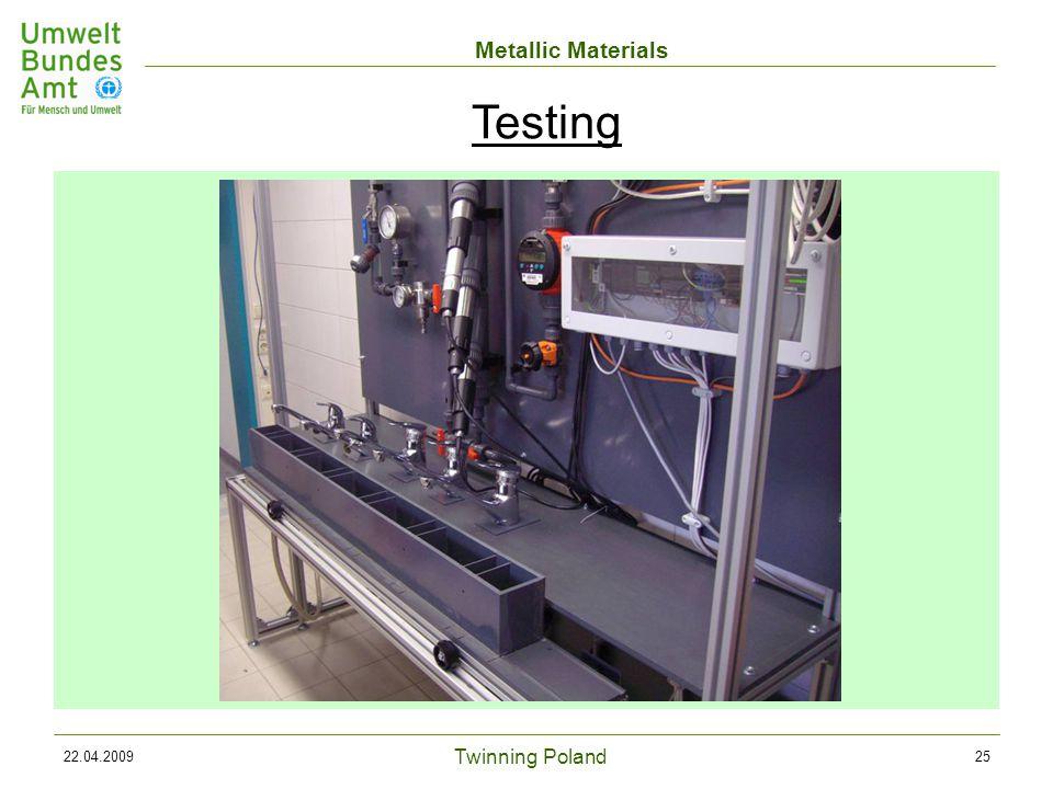 Twinning Poland Metallic Materials 22.04.200925 Testing
