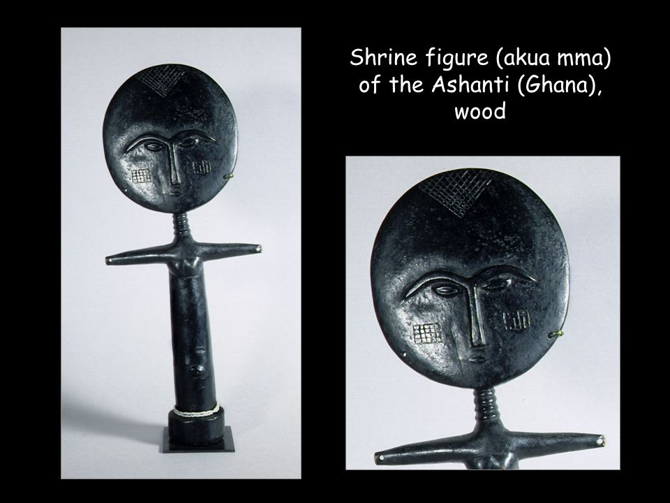 Shrine figure (akua mma) of the Ashanti (Ghana), wood