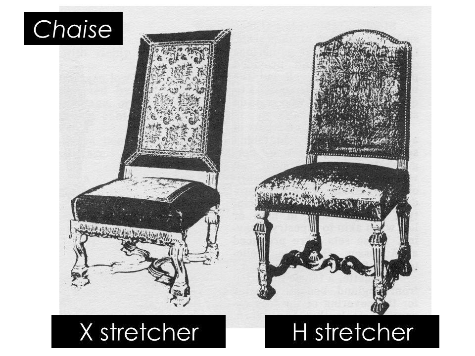 X stretcherH stretcher Chaise