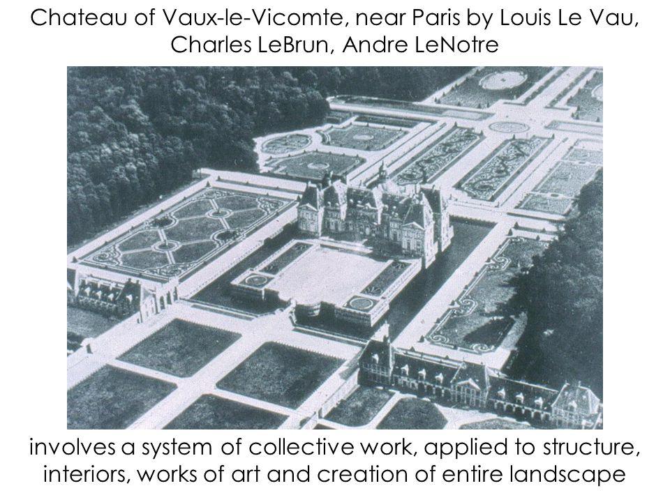 Chateau of Vaux-le-Vicomte, near Paris by Louis Le Vau, Charles LeBrun, Andre LeNotre
