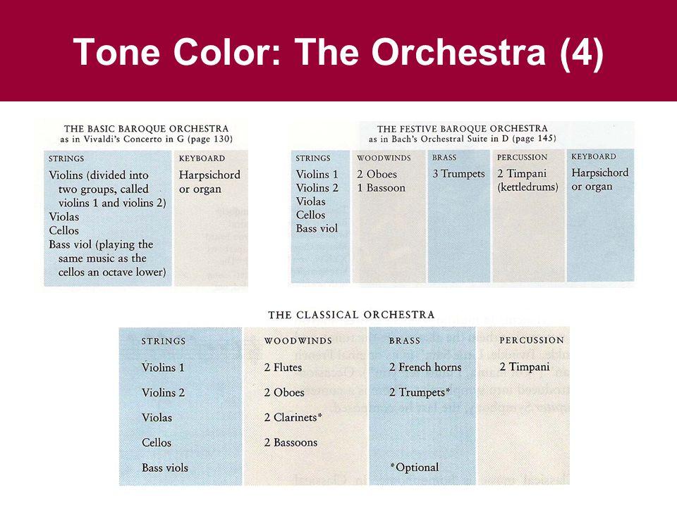 Tone Color: The Orchestra (4)
