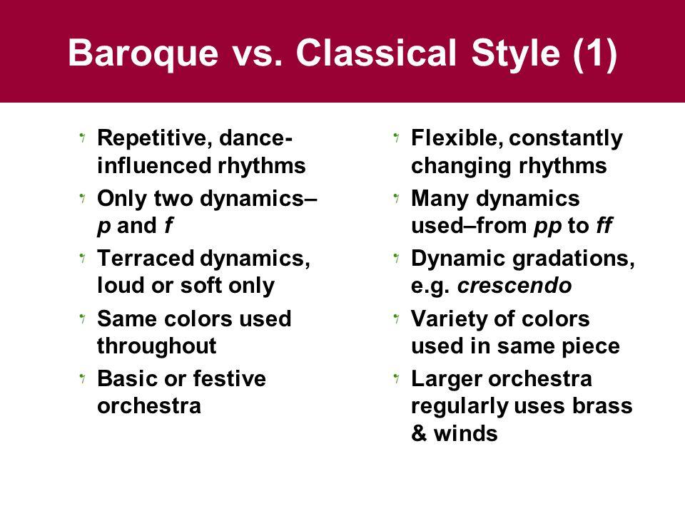 Baroque vs.