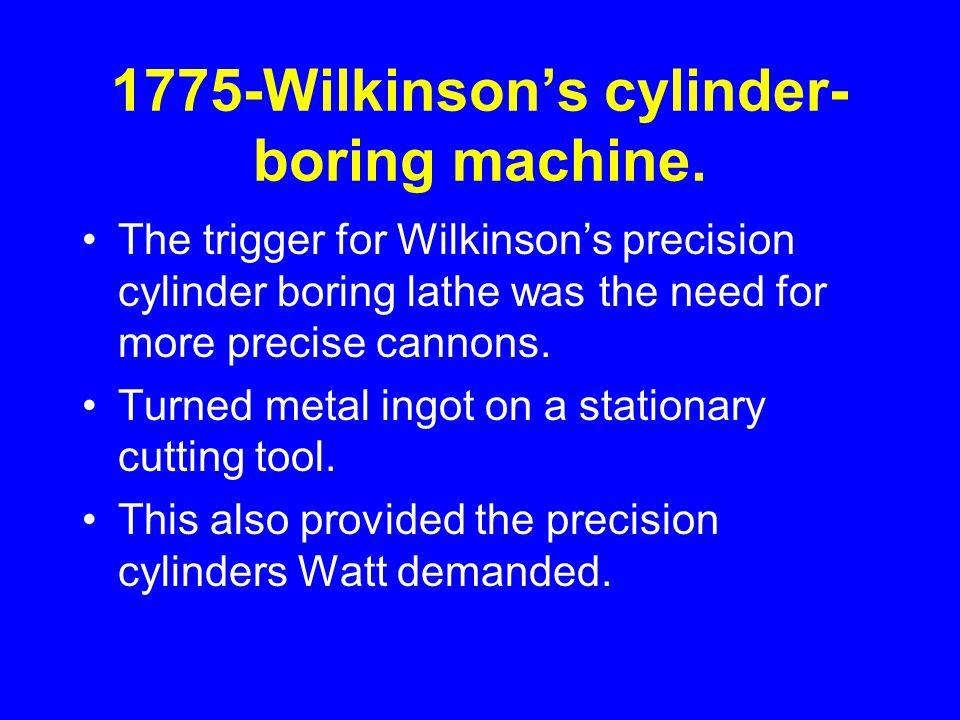 1775-Wilkinson's cylinder- boring machine.