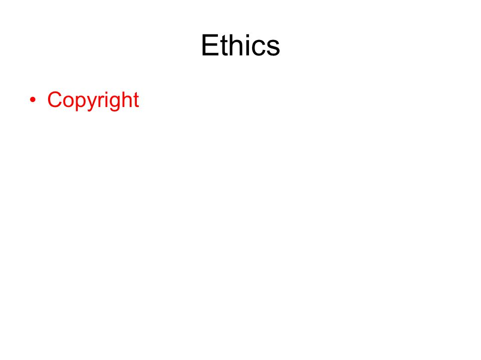 Ethics Copyright