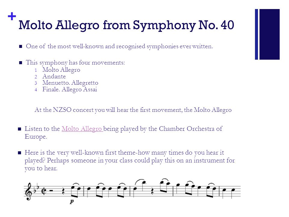 + Molto Allegro from Symphony No.