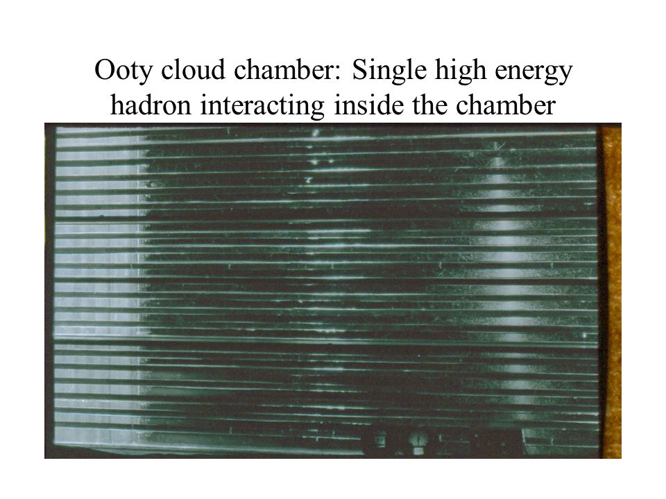 Ooty cloud chamber: Single high energy hadron interacting inside the chamber