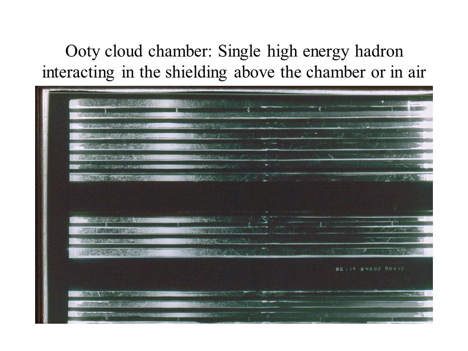 Ooty cloud chamber: Single high energy hadron interacting in the shielding above the chamber or in air