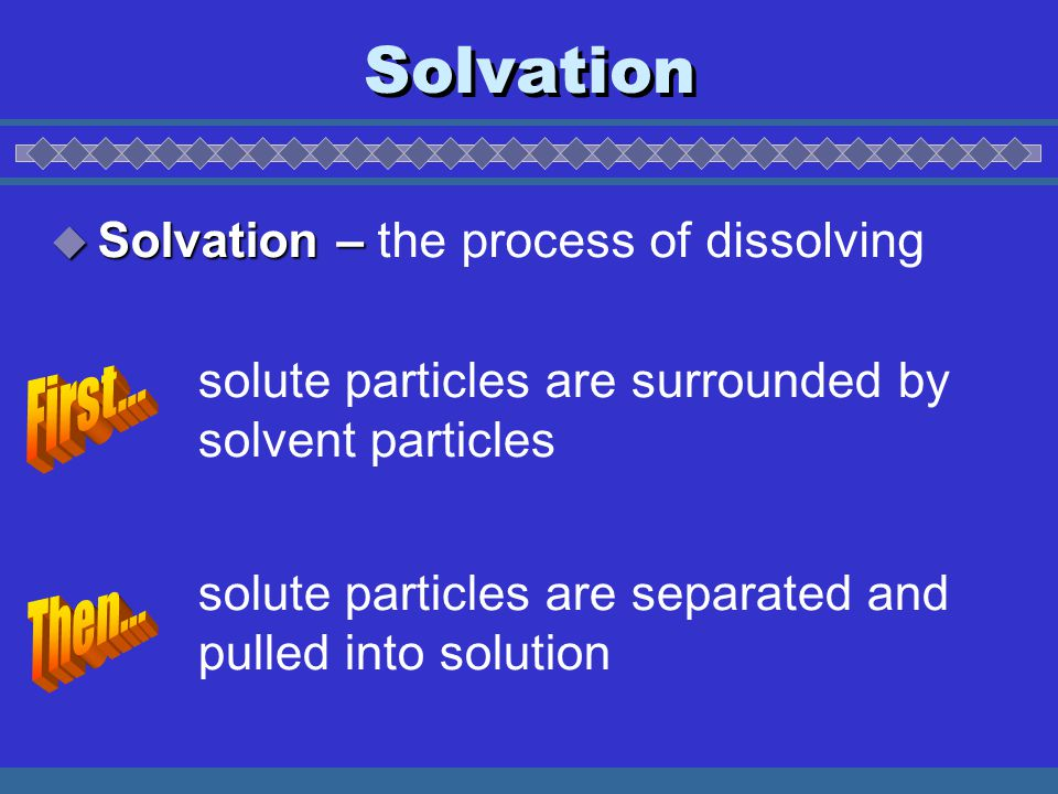 Na + Cl - NaCl solid salt NaCl (aq) = Na + = Cl - Dissolving of solid NaCl Animation by Raymond Chang All rights reserved.