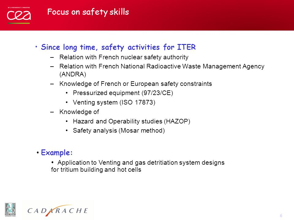 7 To conclude… In the field of tritium management, CEA/DTN can handle: –Conceptual design studies –Process development and modeling –Scale-up studies –Samples characterization (T and other radionuclide with or without Be) –Safety analysis taking into account European and French constraints