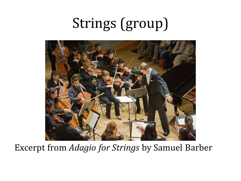 Strings (group) Excerpt from Adagio for Strings by Samuel Barber