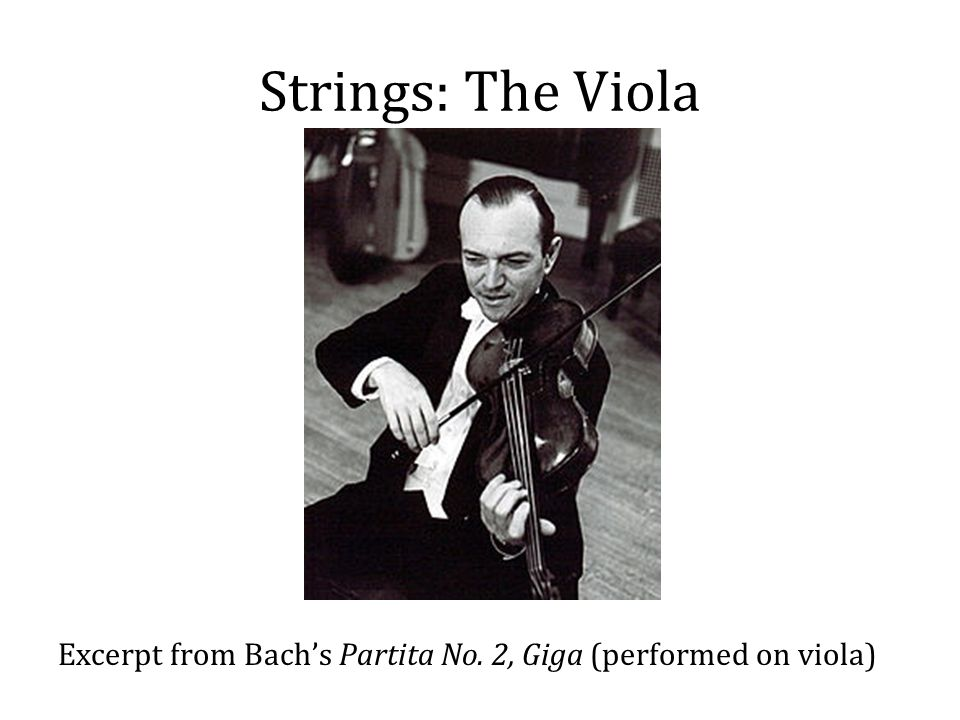 Strings: The Viola Excerpt from Bach's Partita No. 2, Giga (performed on viola)