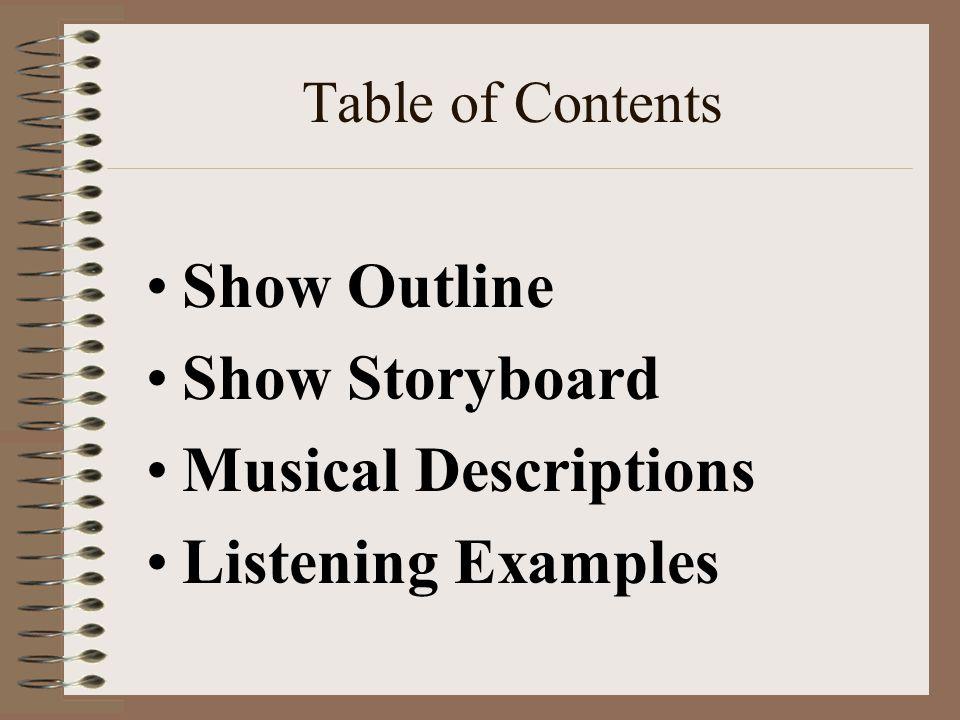 Show Outline Mvt.I – Introduction Preparations (:45) Mvt.