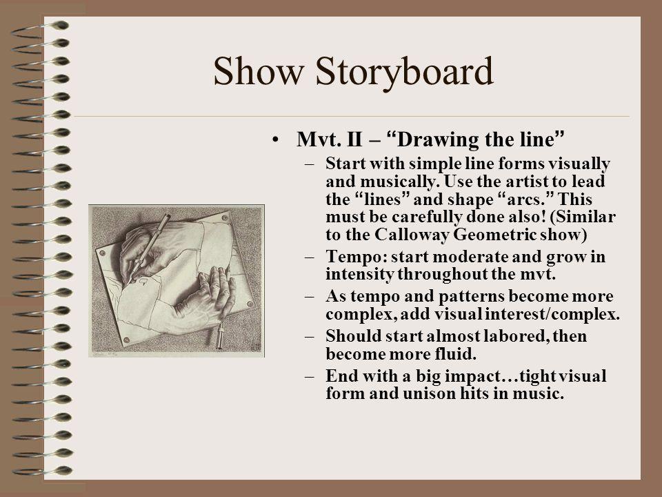 Show Storyboard Mvt.III – Taking Shape –Mysterious Slow Mvt.