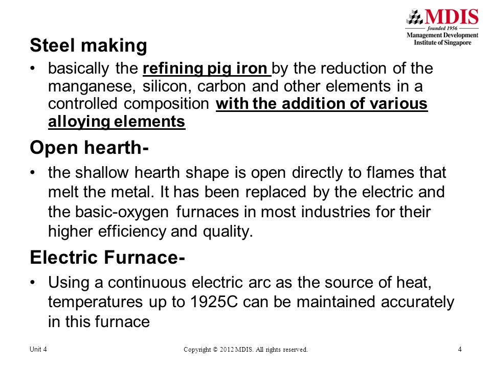 Metal and carbon and limestone are dropped into the furnace the electrodes are lowered.