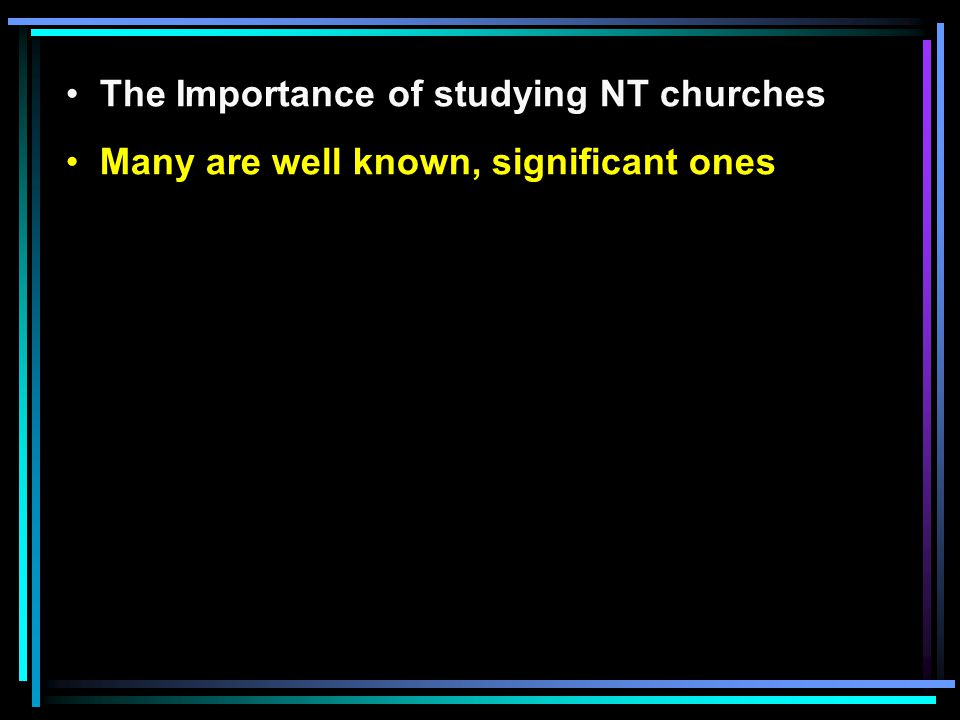 A Study of the Church in Thyatira The city of Thyatira The Lord of the church in Thyatira