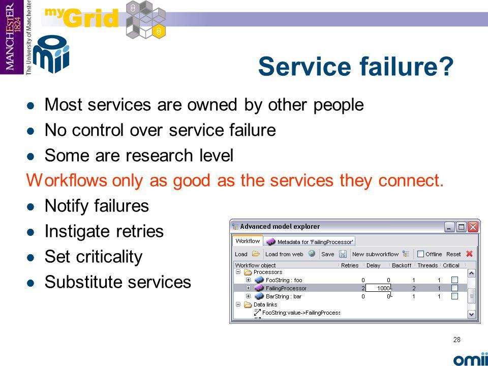28 Service failure.