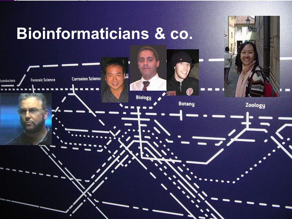 3 Bioinformaticians & co.
