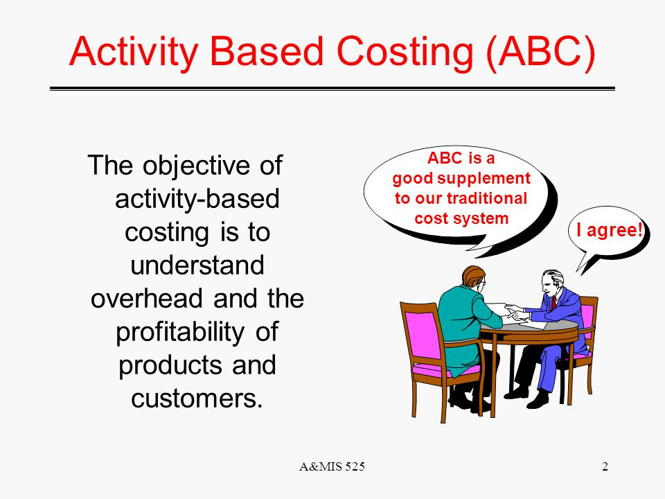 A&MIS 5251 Introduction to Accounting Activity Based Costing: A Tool to Aid Decision Making Session 10 February 7,2002