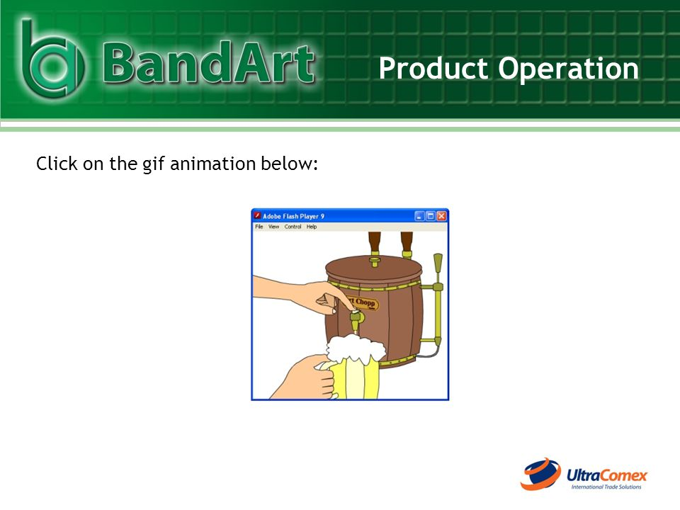 Product Operation Click on the gif animation below: