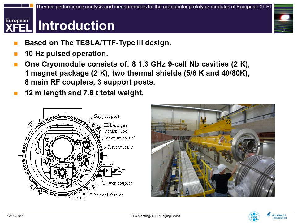 Thermal performance analysis and measurements for the accelerator prototype modules of European XFEL 12/06/2011 TTC Meeting/ IHEP Beijing China 14 Ts, KTi, K Heat load Q, W 2 K5/8 K40/80 K 402-10-40-300-0.3 48.7 502-10-50-300-0.5 48.2 602-10-60-300-0.7 47.7 702-10-70-300-1.0 47.1 802-10-80-300-1.3 46.3 Heat transfer by the MLI (T.