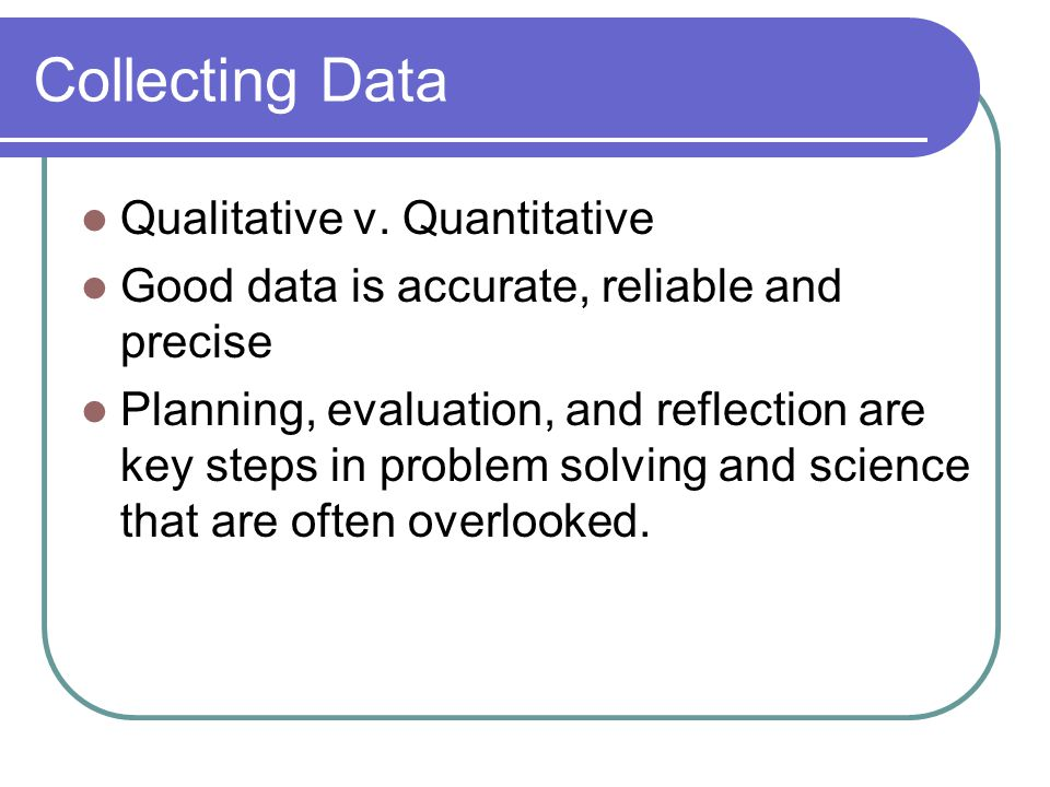 Collecting Data Qualitative v.