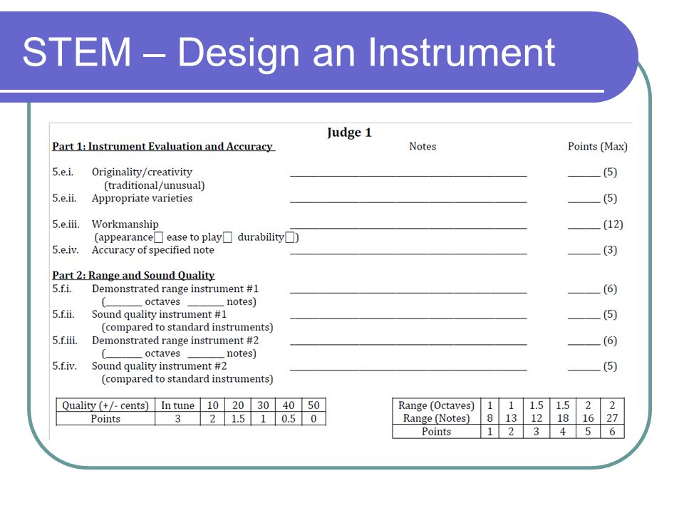 STEM – Design an Instrument